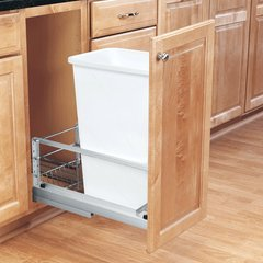 Rev-A-Shelf Single Trash Pullout 50 Quart-White 5349-1550DM-1