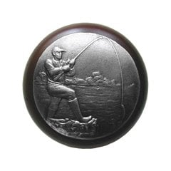 Great Outdoors 1-1/2 Inch Diameter Antique Pewter Cabinet Knob <small>(#NHW-707W-AP)</small>