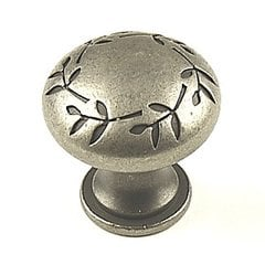 Hamilton 1-3/16 Inch Diameter Antique Pewter Cabinet Knob