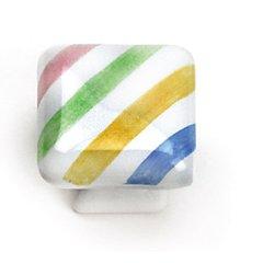 Sorrento 1-1/4 Inch Diameter Diagonal Lines Cabinet Knob <small>(#08350)</small>