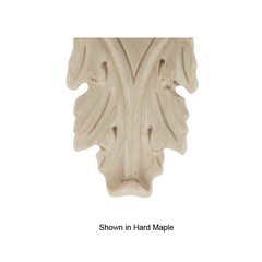 Brown Wood Small Acanthus Onlay Unfinished Walnut 01910123WL1