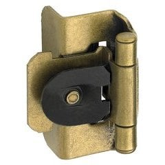 "Double Demountable 1/2"" Overlay Hinge Burnished Brass- Pair"