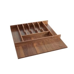 Trimmable Cutlery Tray 21-1/8 inch W Walnut