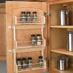 "Door Mount Spice Rack 18"" - Wood"