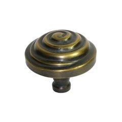 Knobs 2 Inch Diameter Unlacquered Antique Brass Cabinet Knob