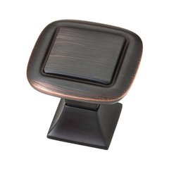 Southampton 1-1/4 Inch Diameter Bronze W/Copper Highlights Cabinet Knob