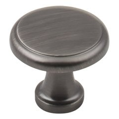 Gatsby Cabinet Knob 1-1/8 inch Diameter Brushed Pewter