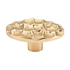 Cobblestone 2-5/8 Inch Diameter Brass Cabinet Knob <small>(#TK299BR)</small>