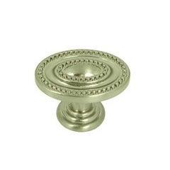 Palermo 1-1/2 Inch Diameter Satin Nickel Cabinet Knob <small>(#CP80147B-SN)</small>