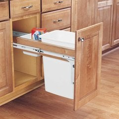 Single Trash Pullout 35 Quart-Wood