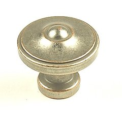 Country 1-3/8 Inch Diameter Weathered Nickel/Copper Cabinet Knob