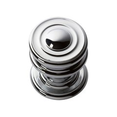 "Campaign Knob 1-1/4"" Dia Polished Chrome <small>(#376-CH)</small>"