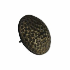"Small Textured Round Clavo 1-1/8"" Dia - Antique Brass <small>(#HCL1604)</small>"