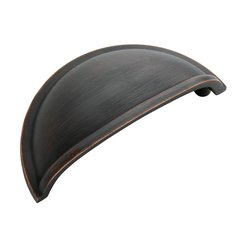 Cup Pulls 3 Inch Center to Center Oil Rubbed Bronze Cabinet Cup Pull