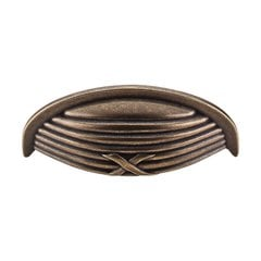 Edwardian 3 Inch Center to Center German Bronze Cabinet Cup Pull <small>(#M939)</small>