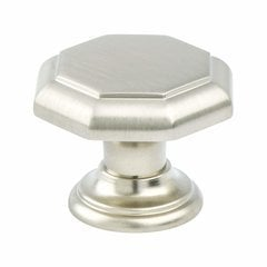 Euro Classica 15/16 Inch Base Diameter Brushed Nickel Cabinet Knob