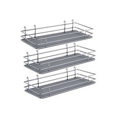 "DSA Three Basket Set 9"" Wide - Chrome"