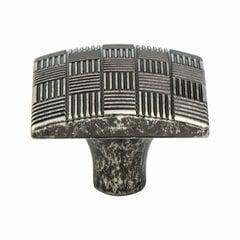 Virtuoso 1-3/16 Inch Diameter Rustic Tin Cabinet Knob