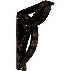 "Versailles 2""W x 7.5""D x 10""H Countertop Bracket - Iron/Steel Antiqued Brass"