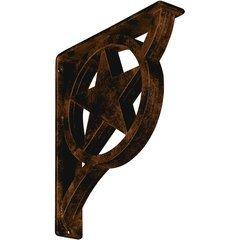 "Austin 2""W x 10""D x 12""H Countertop Bracket - Iron/Steel Antiqued Bronze"
