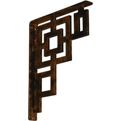 "Eris 1.5""W x 12""D x 15""H Countertop Bracket - Iron/Steel Antiqued Bronze"