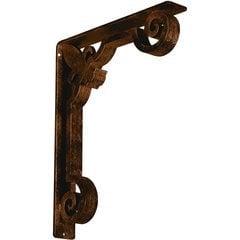 "Fleur-de-lis 2""W x 12""D x 15""H Countertop Bracket - Iron/Steel Antiqued Bronze"