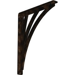 "Nevio 1.5""W x 12""D x 15""H Countertop Bracket - Iron/Steel Antiqued Bronze"