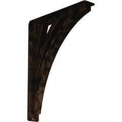 "Nevio 2""W x 12""D x 15""H Countertop Bracket - Iron/Steel Antiqued Bronze"