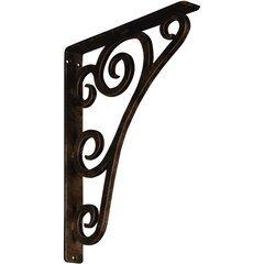 "Tristan 1.5""W x 12""D x 15""H Countertop Bracket - Iron/Steel Antiqued Bronze"