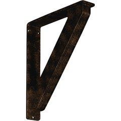 "Traditional 2""W x 10""D x 12""H Countertop Bracket - Iron/Steel Antiqued Bronze"