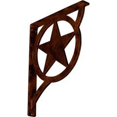 "Austin 1.5""W x 12""D x 15""H Countertop Bracket - Iron/Steel Antiqued Copper"