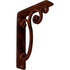 "Avery 1.5""W x 5.5""D x 8""H Countertop Bracket - Iron/Steel Antiqued Copper"