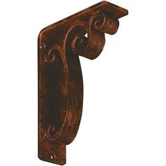 "Avery 2""W x 5.5""D x 8""H Countertop Bracket - Iron/Steel Antiqued Copper"