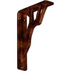 "Damon 1.5""W x 5.5""D x 8""H Countertop Bracket - Iron/Steel Antiqued Copper"