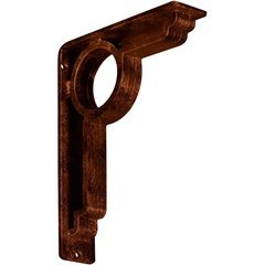 "Maria 2""W x 7.5""D x 10""H Countertop Bracket - Iron/Steel Antiqued Copper"