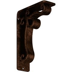 "Orleans 2""W x 5.5""D x 8""H Countertop Bracket - Iron/Steel Antiqued Copper"