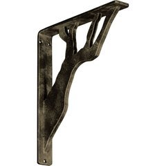 "Damon 1.5""W x 10""D x 12""H Countertop Bracket - Iron/Steel Antiqued Pale Gold"