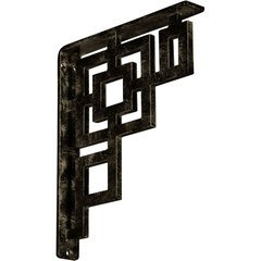 "Eris 1.5""W x 10""D x 12""H Countertop Bracket - Iron/Steel Antiqued Pale Gold"
