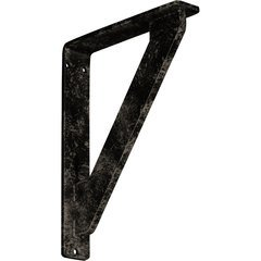 """Traditional 1.5""""W x 7.5""""D x 10""""H Countertop Bracket - Iron/Steel Antiqued Pale Gold"""
