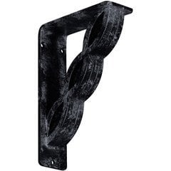 "Loera 2""W x 5.5""D x 8""H Countertop Bracket - Iron/Steel Antiqued Pewter"