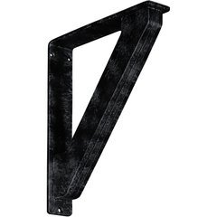 """Traditional 2""""W x 10""""D x 12""""H Countertop Bracket - Iron/Steel Antiqued Pewter"""