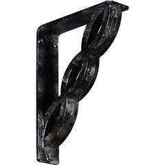 "Loera 2""W x 7.5""D x 10""H Countertop Bracket - Iron/Steel Antiqued Silver"