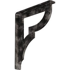 "Bradford 1.5""W x 10""D x 12""H Countertop Bracket - Iron/Steel Antiqued Warm Silver"