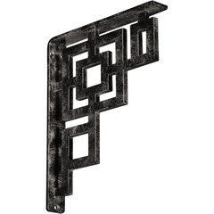 "Eris 1.5""W x 10""D x 12""H Countertop Bracket - Iron/Steel Antiqued Warm Silver"