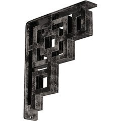 "Eris 2""W x 10""D x 12""H Countertop Bracket - Iron/Steel Antiqued Warm Silver"