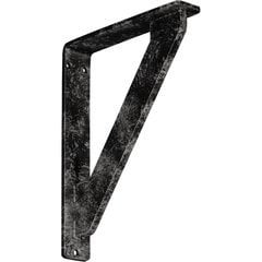 """Traditional 1.5""""W x 7.5""""D x 10""""H Countertop Bracket - Iron/Steel Antiqued Warm Silver"""