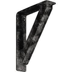 """Traditional 2""""W x 7.5""""D x 10""""H Countertop Bracket - Iron/Steel Antiqued Warm Silver"""