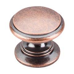 Somerset 1-1/4 Inch Diameter Antique Copper Cabinet Knob <small>(#M357)</small>