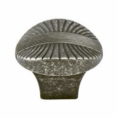 Opus 1-3/8 Inch Diameter Rustic Tin Cabinet Knob <small>(#7171-10RT-C)</small>