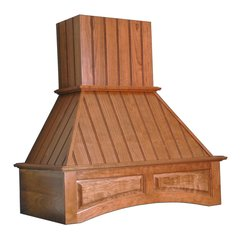 30 inch Wide Arched Nantucket Range Hood-Hickory